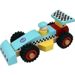 Photo of Wooden Racing Car Blue