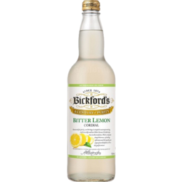 Photo of Bickfords Bitter Lemon Cordial 750ml