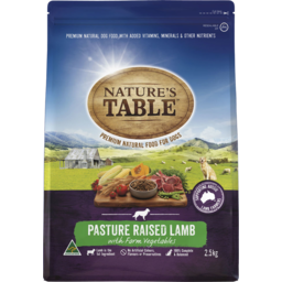 Photo of Nature's Table Pasture Raised Lamb With Farm Vegetables Dry Dog Food 2.5kg