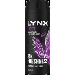 Photo of Lynx Deodorant Aerosol Excite 165 Ml