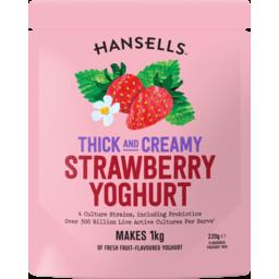 Photo of Hansells Yoghurt Thick and Creamy Strawbery 220g