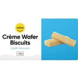 Photo of Value Wafer Vanilla Biscuits 125g