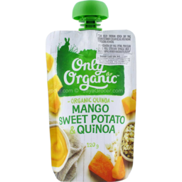 Photo of Only Organic Baby Food Pouch Mango Coconut Quinoa 120g