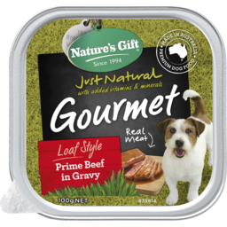 Photo of Nature's Gift Gourmet Loaf Style Prime Beef In Gravy Wet Dog Food 100g