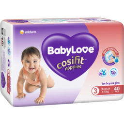 Photo of Babylove Cosifit Nappy 6-11kg 40pk