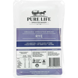 Photo of Pure Life Bakery Sprouted Rye Loaf (Unsliced)
