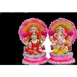 Photo of Laxmi & Ganesh Clay Idol 5 Inch