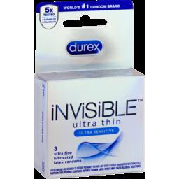 Photo of Durex Condoms Invisible Ultra Thin - 3 Ct