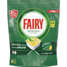 Photo of Fairy Original All In One Lemon Dishwasher Capsules 48 Pack