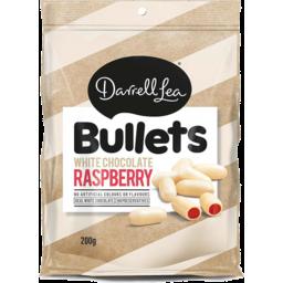 Photo of Darrell Lea White Chocolate Raspberry Bullets 200g
