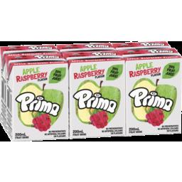 Photo of Prima Apple Raspberry Flavour Fruit Drink 6x200ml
