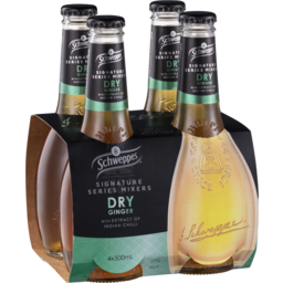 Photo of Schweppes Signature Series Mixers Dry Ginger 4x300ml