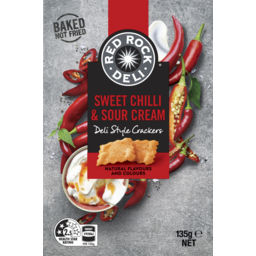 Photo of Red Rock Deli Sweet Chilli & Sour Cream Deli Style Crackers 135g