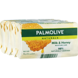 Photo of Palmolive Naturals Milk & Honey Soap 90g 4pk