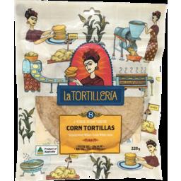 Photo of La Tortilleria Tortilla Corn 8 Pack 220g