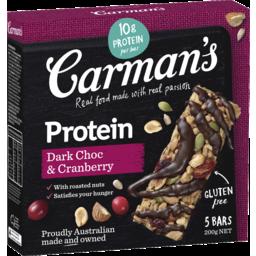 Photo of Carmans Dark Choc & Cranberry Protein Bars 200g