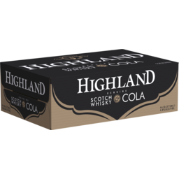 Photo of Highland Scotch & Cola Cans