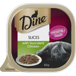 Photo of Dine Slices With Succulent Chicken Wet Cat Food 85g Tray