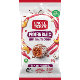 Photo of Uncle Tobys Berry & Roasted Cashew Protein Balls 84g