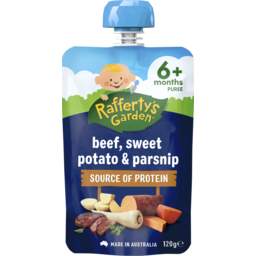 Photo of Raffertys Garden Beef, Sweet Potato & Parsnip 120g