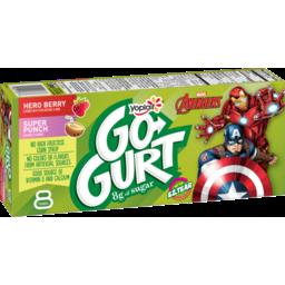 Photo of Yoplait Go-Gurt, Marvel Avengers Portable Low Fat Yogurt Variety Pack, Strawberry & Punch, 8 Tubes