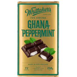 Photo of Chocolate Block 72% Ghana Peppermint 250g