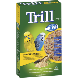 Photo of Trill Dry Bird Seed Budgerigar Mix 1.8kg Box