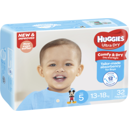 Photo of Huggies Ultra Dry Walker Boys 32pk