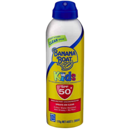 Photo of Banana Boat Kids Spf 50+ Clear Spray 175gm