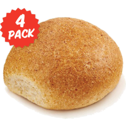 Photo of Oven Peel Bakery Roll Wholemeal 4pk
