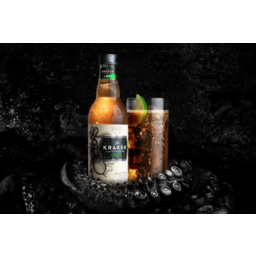 Photo of Kraken Black Spiced Rum & Dry Bottles
