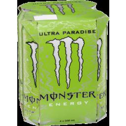 Photo of Monster Energy Ultra Paradise 4x500ml
