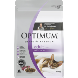 Photo of Optimum Dry Cat Food Adult With Tuna 1+ Years 800g