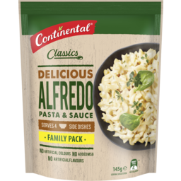 Photo of Continental Classics Pasta & Sauce Alfredo Family Pack 145g Serves 4 145g