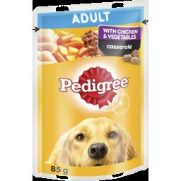 Photo of Pedigree Wet Dog Food Chicken & Vegetables Casserole 85g Pouch