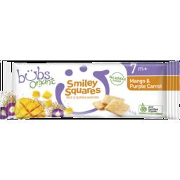 Photo of Organic Bubs Smiley Squares Mango & Purple Carrot 14g