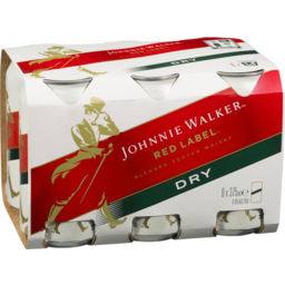 Photo of Johnnie Walker Red Label & Dry Ginger Ale 4.6% 375ml 6 Pack