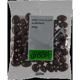 Photo of The Market Grocer Dark Chocolate Almonds 250gm