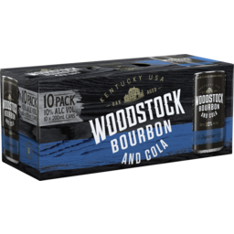 Photo of Woodstock & Cola 10% Can 10 Pack
