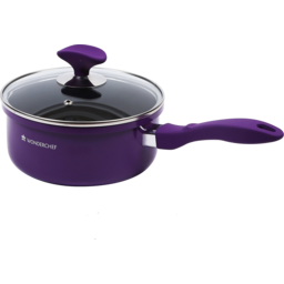 Photo of Wonderchef Induction Base Elite Sauce Pan with Lid 18cm - Purple/ Black