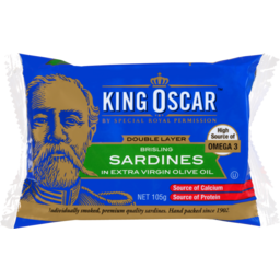 Photo of King Oscar Sardines Extra Virgin Olive Oil 105g 105g