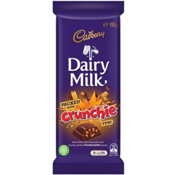 Photo of Cadbury Dairy Milk Packed with Crunchie 180gm Block