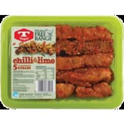 Photo of Tegel Chicken Kebabs Free Range Chiili & Lime 5 Pack