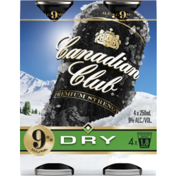 Photo of Canadian Club Premium Whisky & Dry 9% Cans