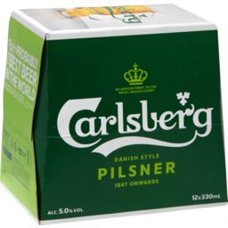 Photo of Carlsberg 12 x 330ml Bottles
