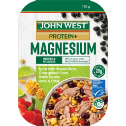 Photo of John West Protein+ Magnesium Tuna With Brown Rice, Corn, Black Beans, Lime & Chilli 170g