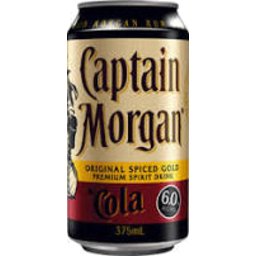 Photo of Captain Morgan Original Spiced Gold & Cola 4.5% Cans