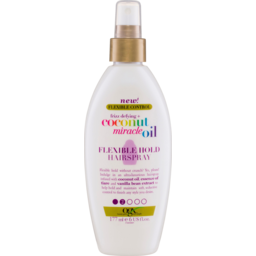 Photo of Ogx Flexible Control Frizz Defying + Coconut Miracle Oil Flexible Hold Hairspray 177ml