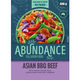 Photo of Mccain Abundance Fill Good Food Asian BBQ Beef With Kimchi Spiced Rice Sugar Sanps And Red Cabbage 400g