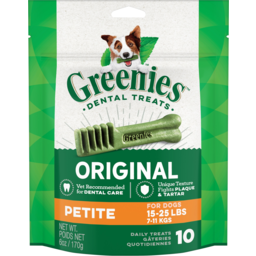 Photo of Greenies Dental Treats Original Petite Dog Treats 10 Pack 170g